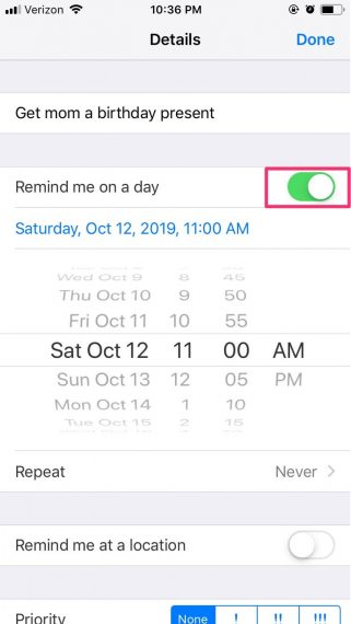 How to set a reminder on iPhone