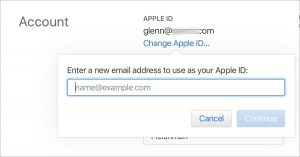 how to change your iCloud Email Address