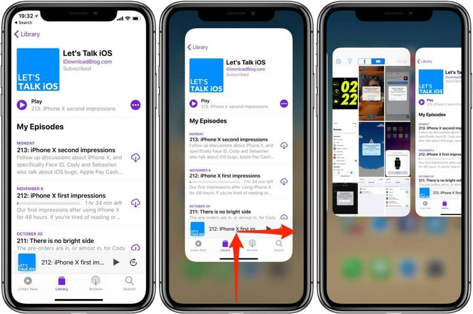 how to close Apps on the iPhone 12 series