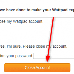 How to delete Wattpad account