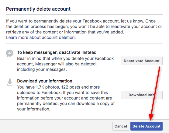 HOW TO'S How to Delete your Facebook Account