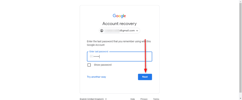 Recover Google Gmail account