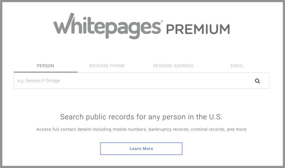 Whitepages Opt Out