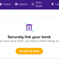 how to remove bank account from stash