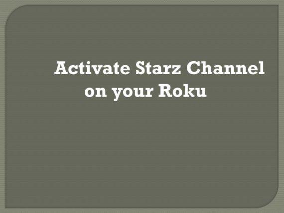 Activate Starz.com