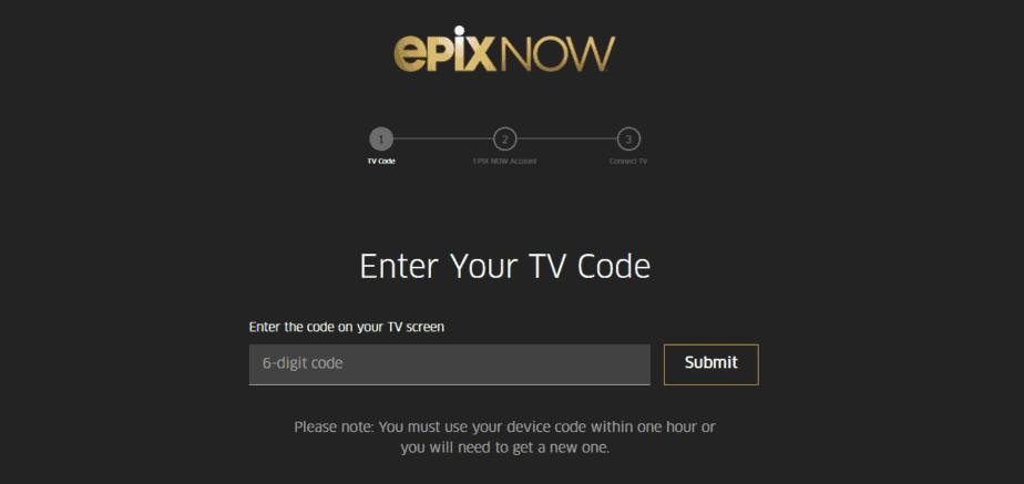 EpixNow.com activate