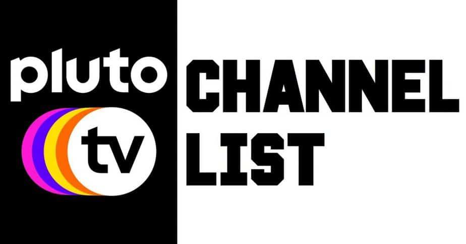 Pluto TV Channel list 2020 PDF
