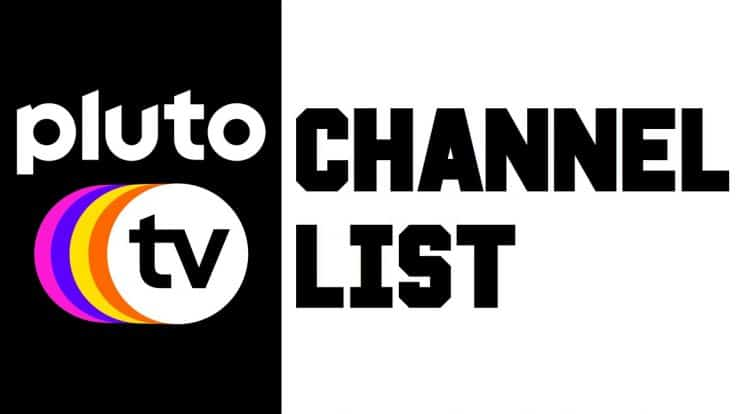 Pluto TV Channel list 2020 PDF