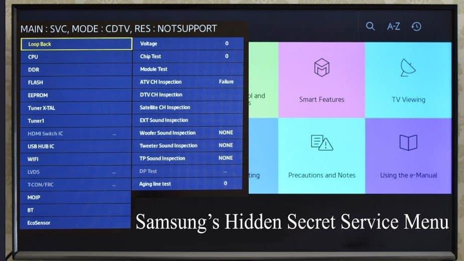 Samsung TV Secret Menu