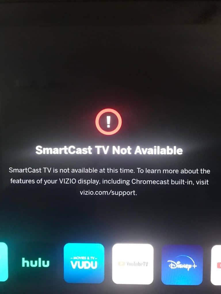 Smartcast not Working and Vizio smartcast not working