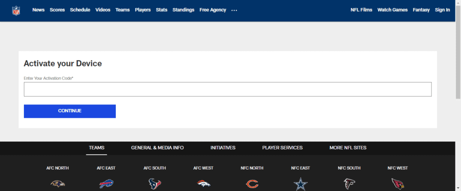 NFL.com Activate
