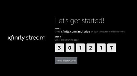 Xfinity.com authorize