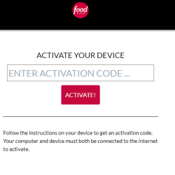 Watch.foodnetwork.com activate