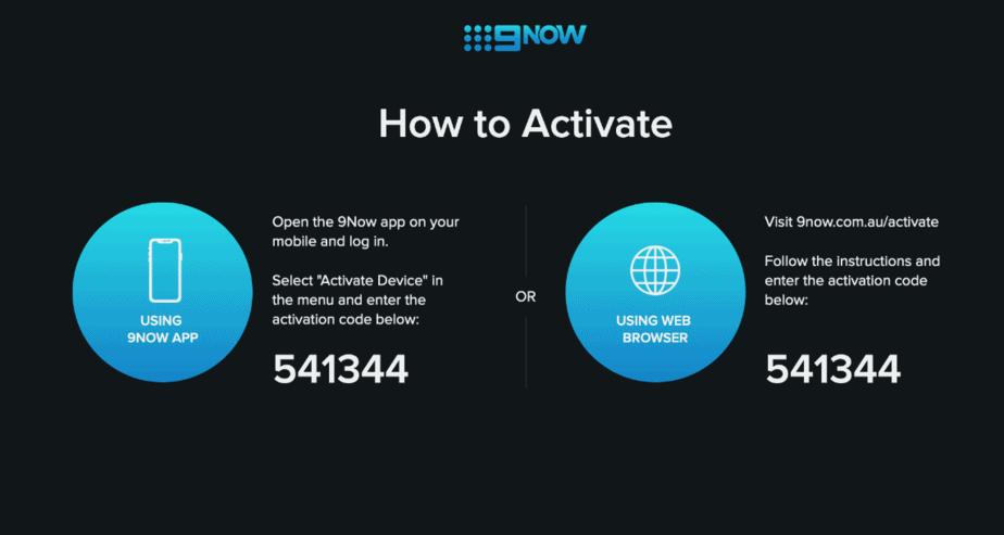9Now.com.au activate