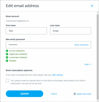 How to Change Shaw Webmail Password