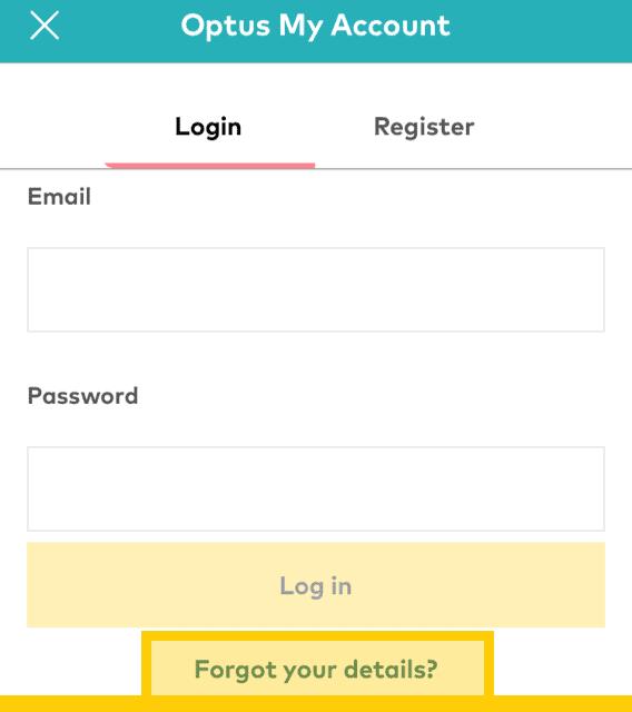 Forgot password details