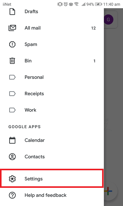 iiNet email settings