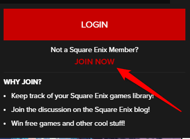 Sign Up Square Enix
