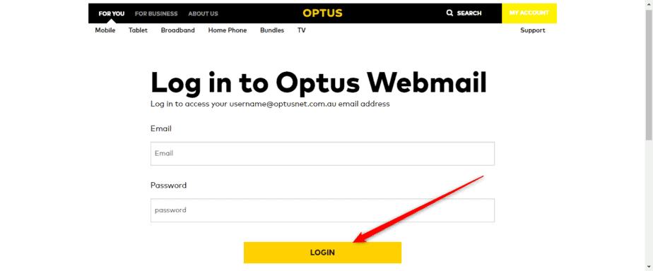 Optus Webmail Login