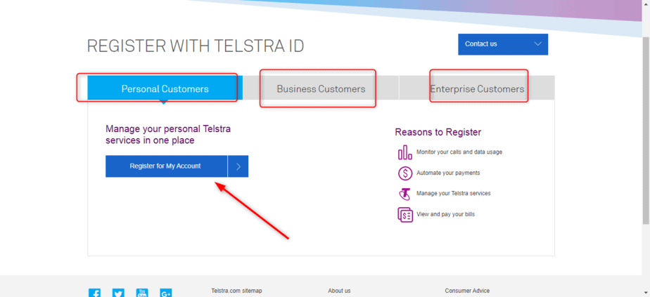 Telstra account