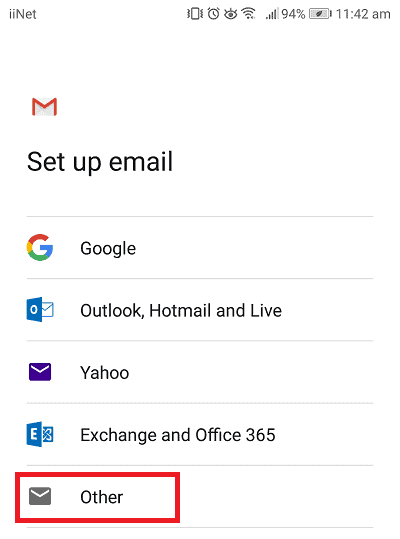 Gmail other settings