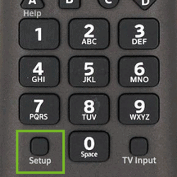 Setup Button on the Xfinity Remote
