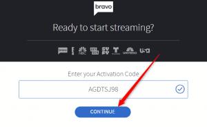 BravoTV com link activation code