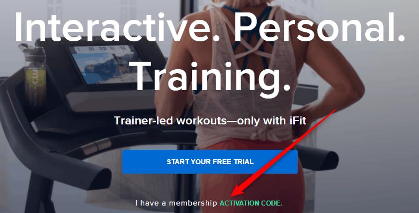 iFit membership code